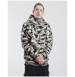 Men's Military Camouflage Printed Thick Hoodies
