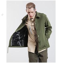 Men's Turn Down Collar Drawstring Jacket