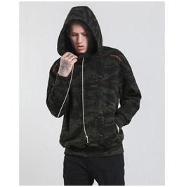 Men's Black Camouflage Loose Hoodies
