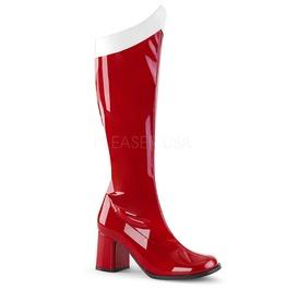 Wonder Woman Superhero Villian Halloween Knee High Red Or Pink Boots
