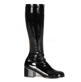 Steel Toe Gogo Sexy Retro Black Boots