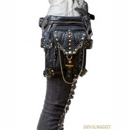 Gothic Steampunk Gold Chain Waist Shoulder Messenger Bag