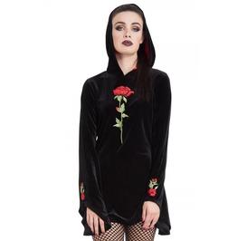 Jawbreaker Clothing Rose Embroidery Velvet Hoodie
