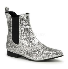 Silver Glitter Pimp Disco Studio 54 Rhinestone Cowboy Costume Boots