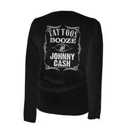 Tattoos Booze And Johnny Cash Cardigan