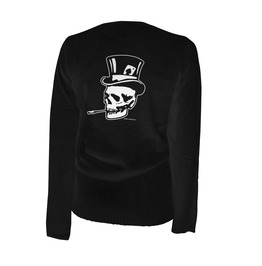 Old Skull Top Hat Cardigan