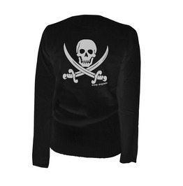 Jolly Roger Pirate Flag Cardigan