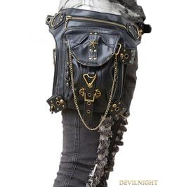 Vintage Gothic Steampunk Gold Chain Waist Shoulder Messenger Bag