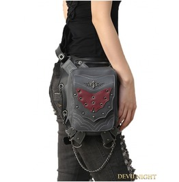 Gothic Steampunk Bat Rivet Travel Waist Shoulder Bags With Phone Pocket
