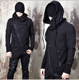 Avant Garde Asymmetric Diagonal Zip Up Hoodie 181
