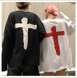 Gothic Harajuku Street Cross Women Sweatshirt