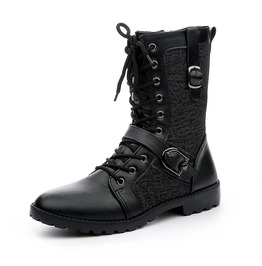 Men Military Combat Work Boots Toes Leather Jungle Winter Casual Ankle Boot