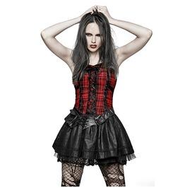 Fluffy Cute Plaid Punk Dress