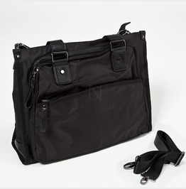 One Big Pocket Black Tote Bag 70