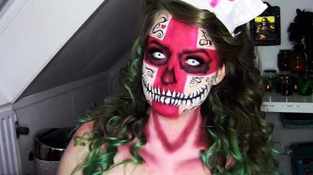 Makeup Tutorials: QueenKingSFX Sugar Skull Nurse Makeup
