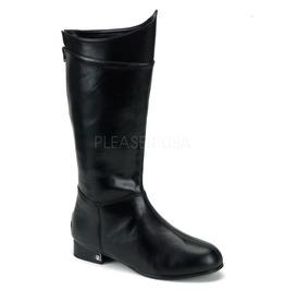 Superhero Batman Knight Pirate Military Black Pu Boots ( Hero 100 )