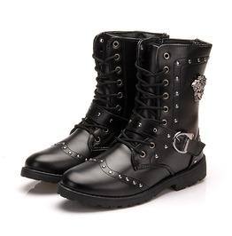 Men's Leather Waterproof Outdoor Booties Sneakers For Winter Ankle Boot