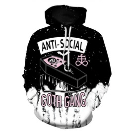 Anti Social Pirates Coffin Skull Ink Women's Hooded Sweatshirt