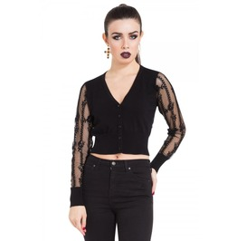 Jawbreaker Clothing Black Lace Cardigan