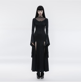 Punk Rave Women's Gothic Pagoda Sleeve Open High Cross Dress Q349