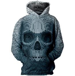 Gothic Streetwear 3 D Skull Hoodie Sweatshirt
