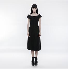 Punk Rave Women's Elastic Lotus Leaf Collar Off The Shoulder Dress Opq206