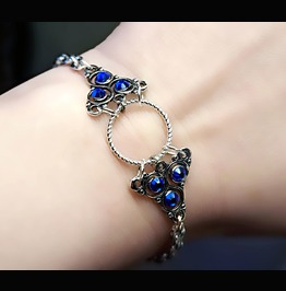 Submissive Dominant O Ring Bracelet Steampunk Bdsm Symbol Triskele Chain
