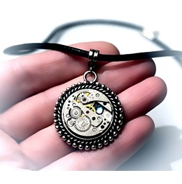 Steampunk Bdsm Jewelry Submissive Collar Dominant Necklace Watch Pendant