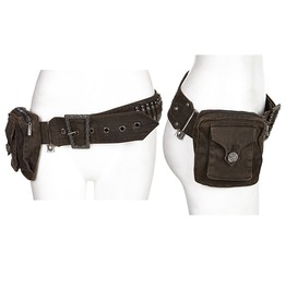 Punk Rave Women's Steampunk Buckle Bullet Waist Bag Ws245