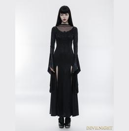 Black Gothic Gorgeous Lace Split Dress Wq 349