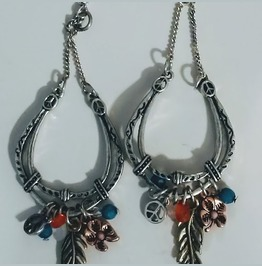 Silver Horseshoe Earrings