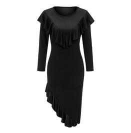 Irregular Length Long Sleeves Gothic Dress