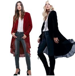 Women Steampunk Long Sleeve Jacket Asymmetric Causal Coat Christmas Offer