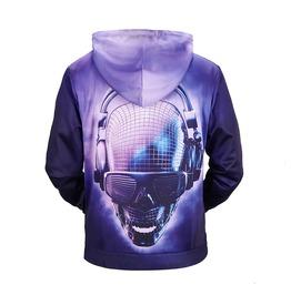 Dj Skull 3 D Cool Men Hoodies Sweatshirt