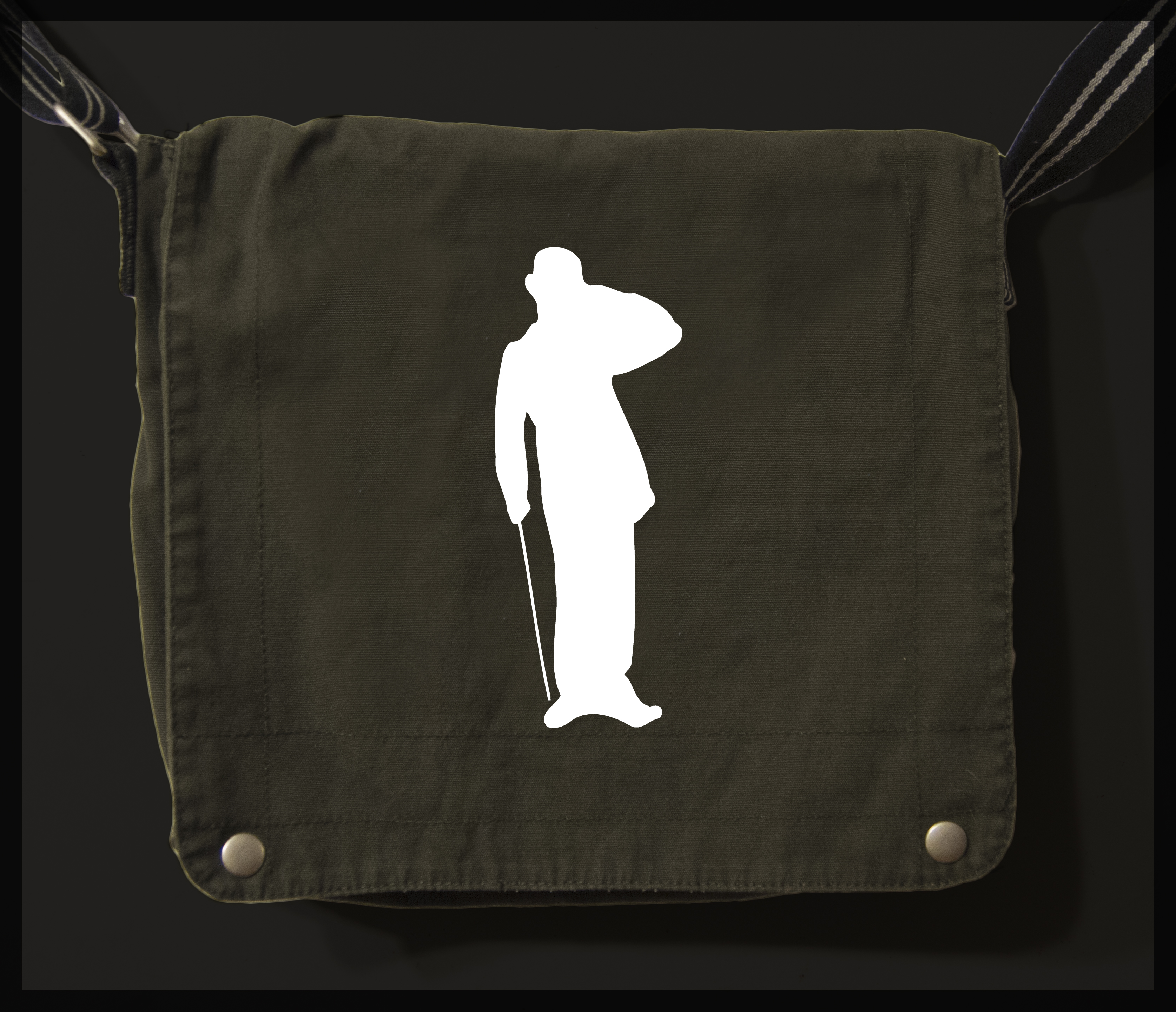 charlie chaplin messenger bag