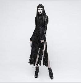 Punk Rave Warrior Queen Ripped Transparent Dress