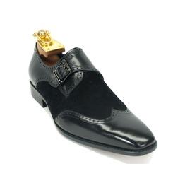 Handmade Men Wingtip Monk Shoes, Men Formal Monk Shoes, Men Dress Shoes