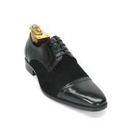 Handmade Men Oxford Two Tone Dress Shoes Men Suede And Leather Formal Shoes