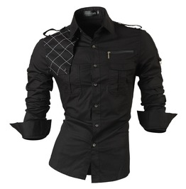 Casual Men's Long Sleeves Slim Shirt