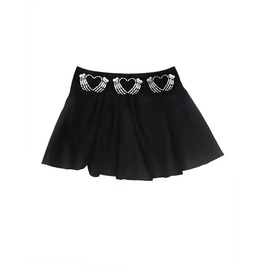 A Crimson Heart Skater Skirt
