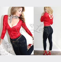 Sale! Pinup Velvet Red Sexy 50s Vintage Retro Club Top ~ Plus Size Too!
