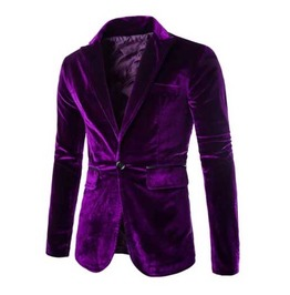 Men's Purple Velvet Classic Gothic Blazer Vamp Jacket Jacket $5 To Ship!