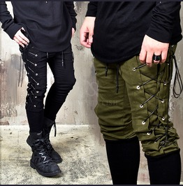 Long Bending Eyelet Slim Pants 186
