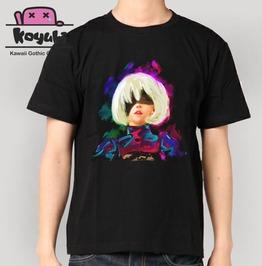 2 B Nier Automata T Shirt Gothic Emo Harajuku Unisex