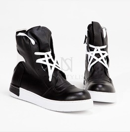 Star Laced High Tongue High Top Sneakers 408