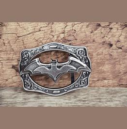 Belt Buckle Solid Metal Alloy Buckle The Bat Antique Silver Color