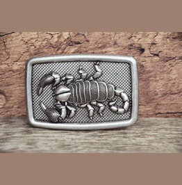 3 D Scorpion Buckle Solid Metal Alloy