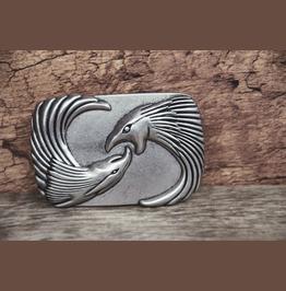 Fighting Eagle Vintage Silver Color Buckle