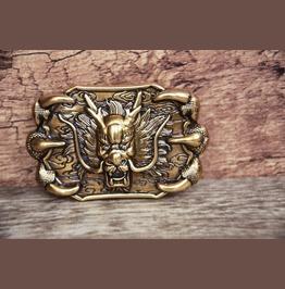 3 D Dragon Monster Buckle Brass Color