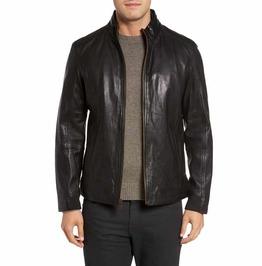 Men Black Biker Jacket, Men Fashion Motorcycle Leather Jacket, Men Jackets